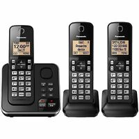 Panasonic DECT 6.0 PLUS 3-Handset Expandable Digital Cordless Phone with Answering System