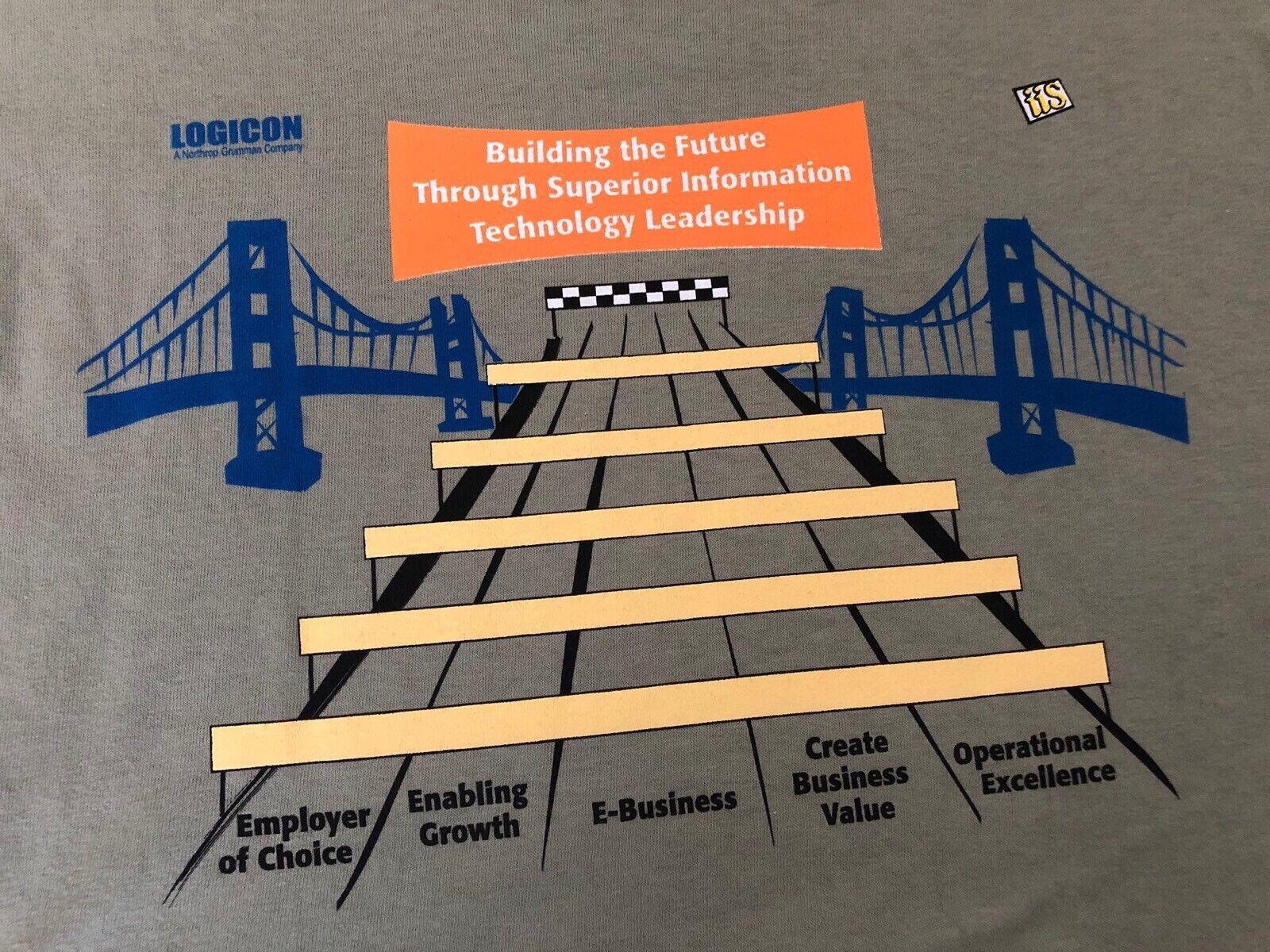 Vintage LOGICON A Northrop Grumman Company iis E-Business Employee T-shirt 2XL