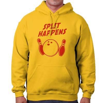 Split Happens Bowling Funny Geek Nerd Gift Zipper Sweat Shirt Zip Sweatshirt