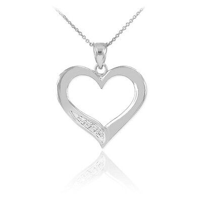 14K Rose Gold Infinity Heart Pendant with 0.015ctw Diamond Dainty Necklace