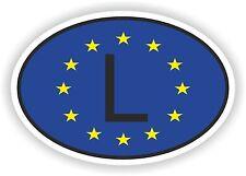 OVAL EUROPEAN UNION FLAG CON L Lussemburgo Codice paese ADESIVO MOTO AUTO