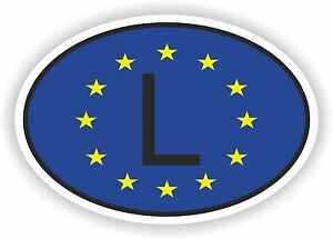 Image Is Loading Oval European Union Flag With L Luxembourg Country