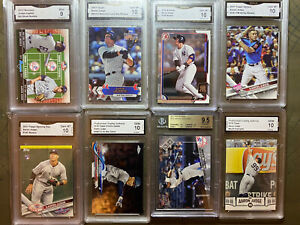 Lot of 8 Aaron Judge Graded Rookie RC BGS 9.5 GMA 10 PGA 10 2017 Topps Yankees