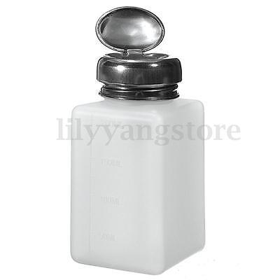 180ml Empty Nail Art Pump Dispenser Acetone Polish Remover Alcohol Liquid Bottle