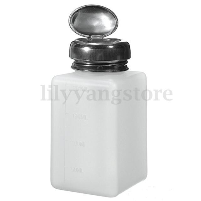 180ml Empty Nail Art Pump Dispenser Acetone Polish Remover Alcohol ...