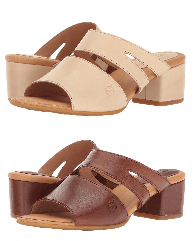 Nacido para mujer Makati Slip On Puntera Abierta Zapatos Sandalias De Tiras Informal Tacones Diapositivas