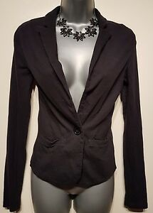 Size-8-Casual-Jacket-MISS-SELFRIDGE-Charcoal-Grey-Fitted-Great-Condition-Women-039-s