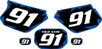 1991-2003 Yamaha Dtr 125 Pre-printed Black Backgrounds With Blue Shock Series