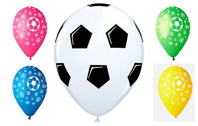 FOOTBALL THEME BOYS BIRTHDAY PARTY DECORATIONS 12 INCH LATEX BALLOONS SOCER BALL