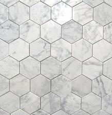 Carrara Hexagon Mosaics 48mmx48mm On 307x307 Sheets Premium