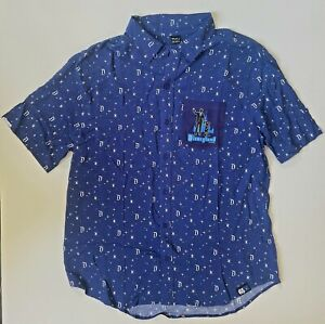 Disneyland-LARGE-Button-Shirt-65th-Anniversary-Years-of-Magic-Walt-Mickey-NWT