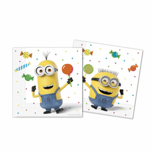 NEU Servietten Minion Party 20 Stück Partyservietten 33x33 cm