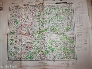 image is loading wwii us army 29th division map osnabruck germany
