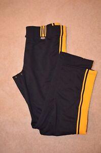 Rover Plus Nine 9 Softball Black and Yellow Pants Size 38x35
