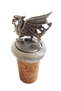 Wales Welsh Dragon Cork /& Pewter Wine Or Spirit Bottle Stopper