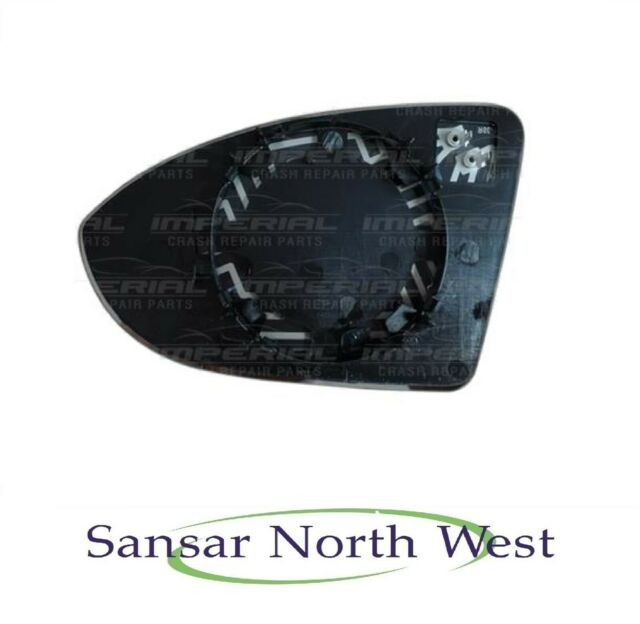 Left Passenger Side WIDE ANGLE HEATED WING DOOR MIRROR GLASS VW Passat B7 10-On