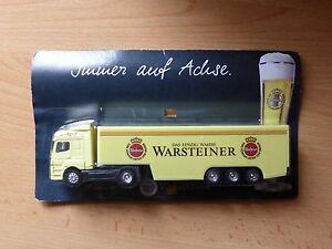 Modellino-autocarro-per-birra-Rimorchio-trasporto-MERCEDES-AXOR-WARSTEINER-MK-3