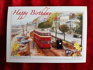 The Mumbles Railway 1804 - 1960 - Birthday Card - Tony Paultyn