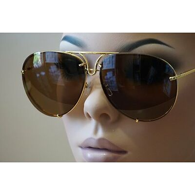 Aviator Super Poshe Gradient Lens Twirl Metal Design Frames Women Sunglasses