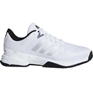 mens adidas barricata corte 3 wide white sport del tennis atletico scarpa