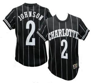 Larry Johnson #2 Charlotte Hornets Mens XS-M-L-2XL Mitchell & Ness Jersey