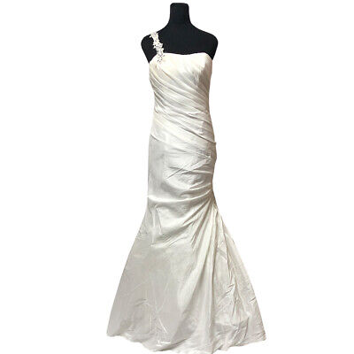 UK SELLER White Wedding Evening Dress Bridal Ball Haltern Mermaid 8-14UK