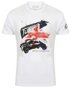 TVR-T-Shirt-Tuscan-Splash-Flag-Mens-Official-Merchandise-British-Sports-Car