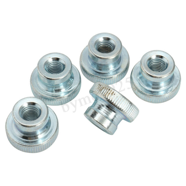 10pcs M3 M4 M5 M6 M8 M10 Thread Carbon Steel Zinc Coated Knurled Thumb Nuts