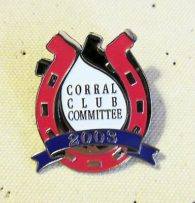 Sports Mem, Cards & Fan Shop 2003 Houston Livestock Show & Rodeo Corral Club Committee Badge/pin/medal New Varieties Are Introduced One After Another Football-other