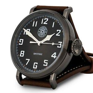 Roskopf-New1940-45-British-WW2-RAF-Spitfire-Stealth-Watch-WW2-Pilots-Watch