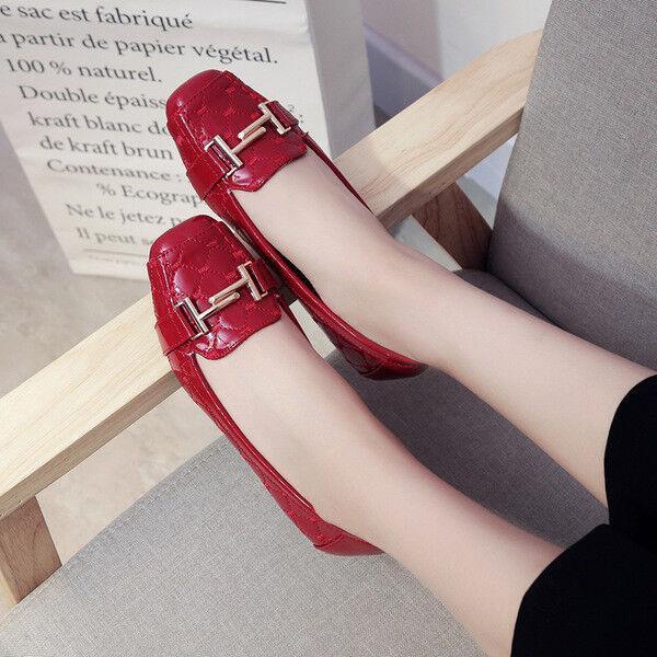 Ballerine mocassini  scarpe rosso lucido eleganti  mocassini simil pelle 2.5 cm comode 1390 35267c