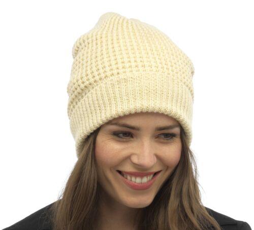 Tom Franks Ladies Fleece Lined Beanie Hat with Metallic Thread
