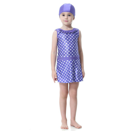 Modest Muslim Kids Girls Swimsuit Beachwear Islamic Swimming Arab Child Clothing