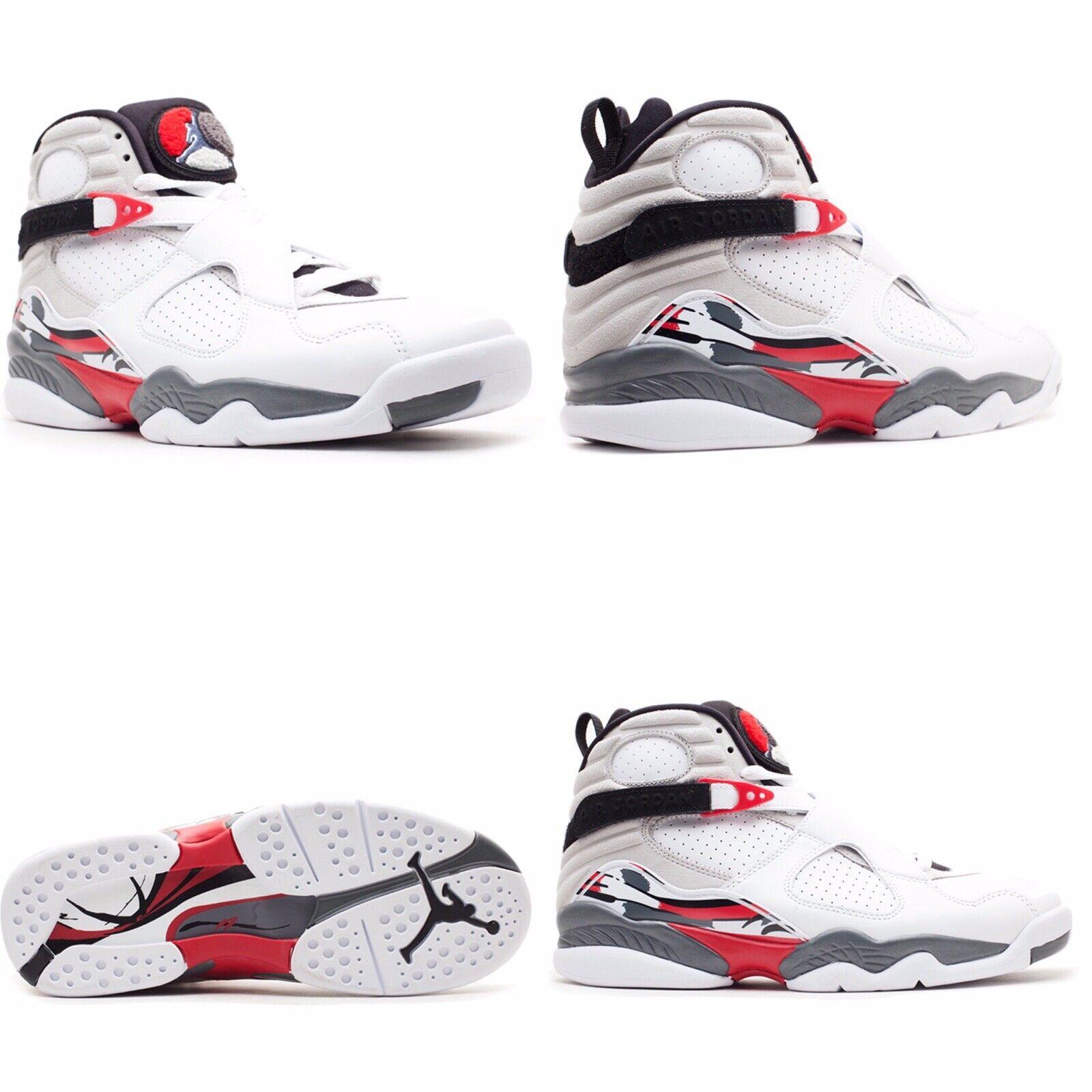 Para hombres JORDAN 8 RETRO Bugs Bunny AIR blancoo Negro Rojo 305381-103, tamaño 14