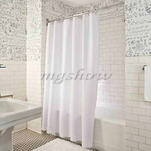 2017 Shower Curtain Plain White Extra Wide Extra Long Standard With Hooks Rin