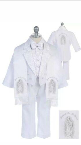 Baptism Christening Baby traje DE BAUTISO MARIA Kids Suit Tuxedo EMBROIDERY