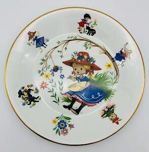VTG-ARKLOW-IRELAND-Nursery-Rhyme-Child-039-s-Plate-Little-Miss-Muffet-Erin-Irish