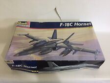 Model Kit Plastic Revell Vintage Airplane F-18c Hornet Skill 2 Scale 1 48