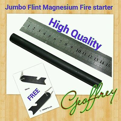 Giant Misch Metal 13mm x 153mm Fire Starter Flint /w Multifunction Striker