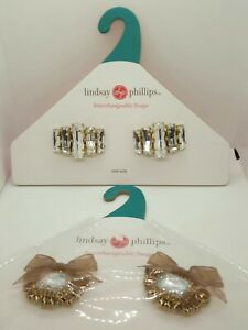 Lindsay-Phillips-Interchangeable-Snaps-for-shoes-Lot-of-2-Womens
