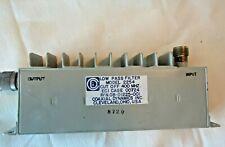 Coaxial Dynamics Low Pass Rf Filter 400mhz Cut Off Model 2254