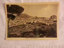 Vecchia foto cartolina d epoca di Nicosia panorama case abitazioni montagne da