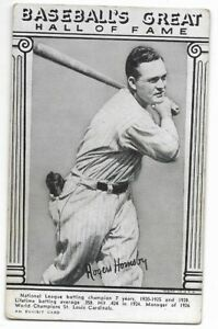 Details About 1948 National Baseball Hall Of Fame Exhibits Rogers Hornsby Card