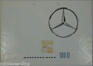 Faltprospekt-Mercedes-180D-1961