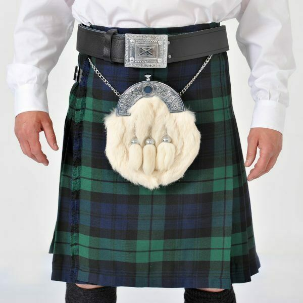Black Watch 8 Yard Wool Kilt Ex Hire B condition. limited sizes left only