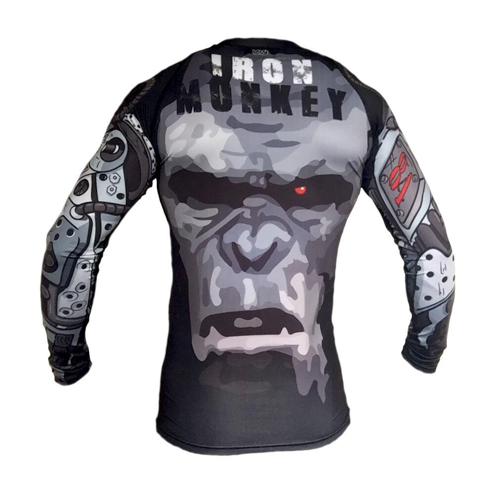 Larai Fight Wear IRON MONKEY  Rash Guard BJJ Jiu Jitsu No-Gi MMA Compression  excellent prices