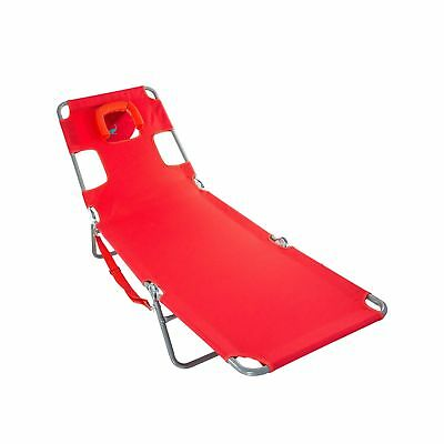 Ostrich Chaise Lounge Folding Portable Sunbathing Poolside