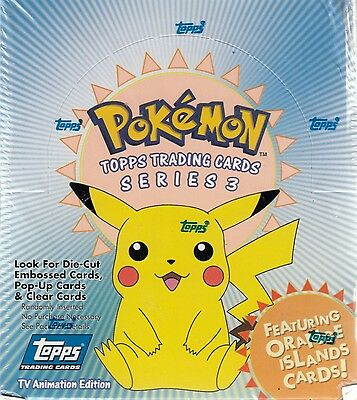 POKEMON 3 TV ANIMATION 2000 TOPPS FACTORY SEALED TRADING CARD BOX OF 36 PACKS AN