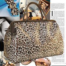 Deluxe Womens Fiber Large Travel Bag Shoulder Bag Hobo Shopper Handbag Gym bag