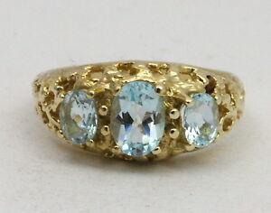 BJC-9-ct-topacio-azul-oro-amarillo-3-Piedra-Gitano-talla-N-anillo-de-compromiso